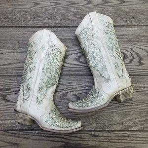 Corral Sequin Wedding Boots